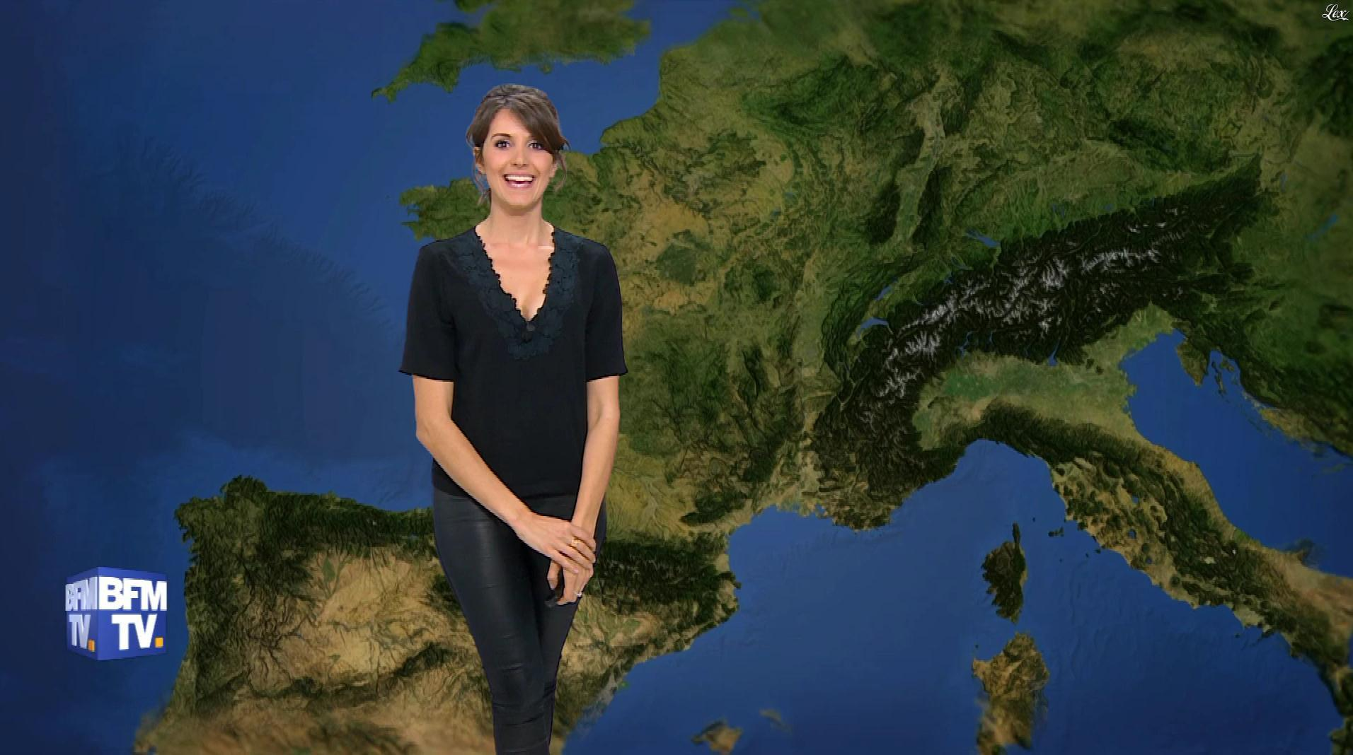 Fanny Agostini à la Météo de BFM TV. Diffusé à la télévision le 31/03/17.