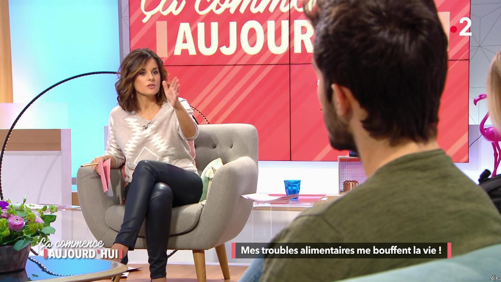 Faustine Bollaert dans Ça Commence Aujourd'hui. Diffusé à la télévision le 06/03/18.