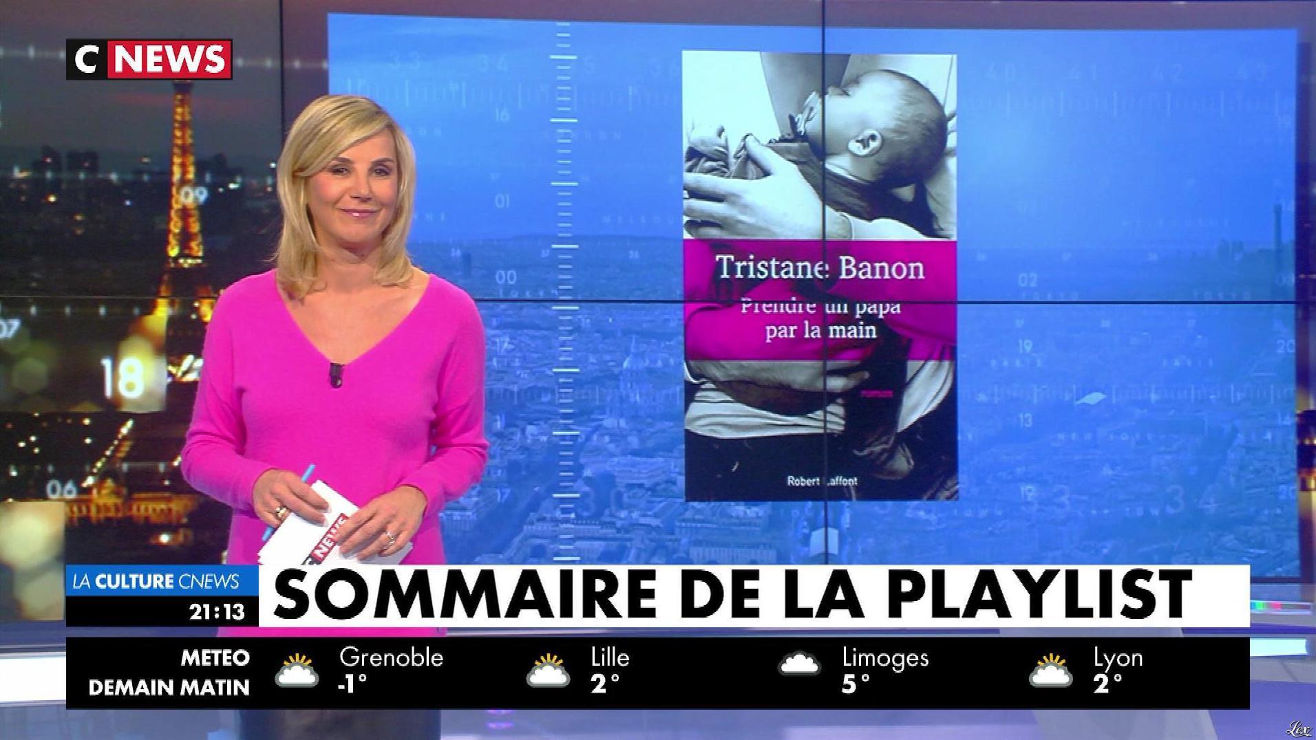 Laurence Ferrari dans la Playlist. Diffusé à la télévision le 03/03/18.