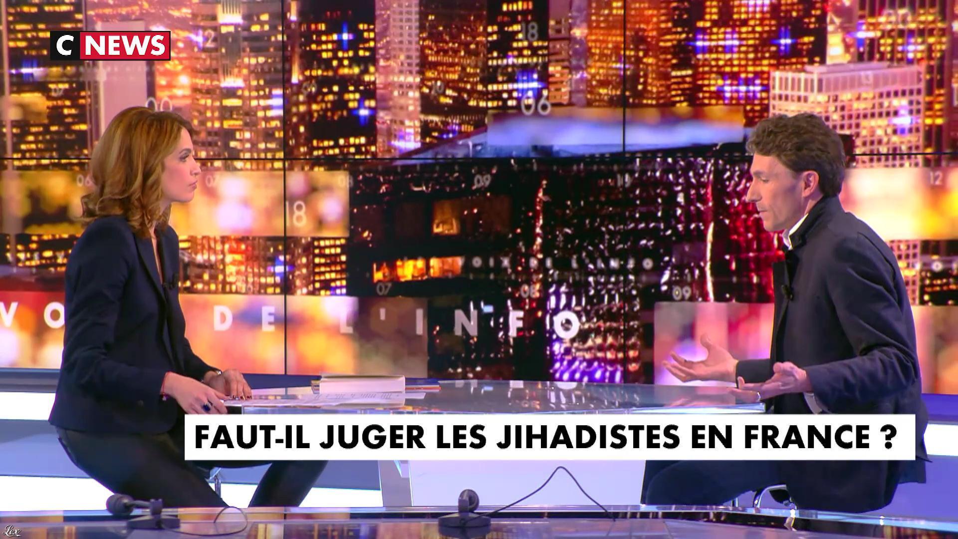 Sonia Mabrouk dans les Voix de l'Info. Diffusé à la télévision le 07/03/18.