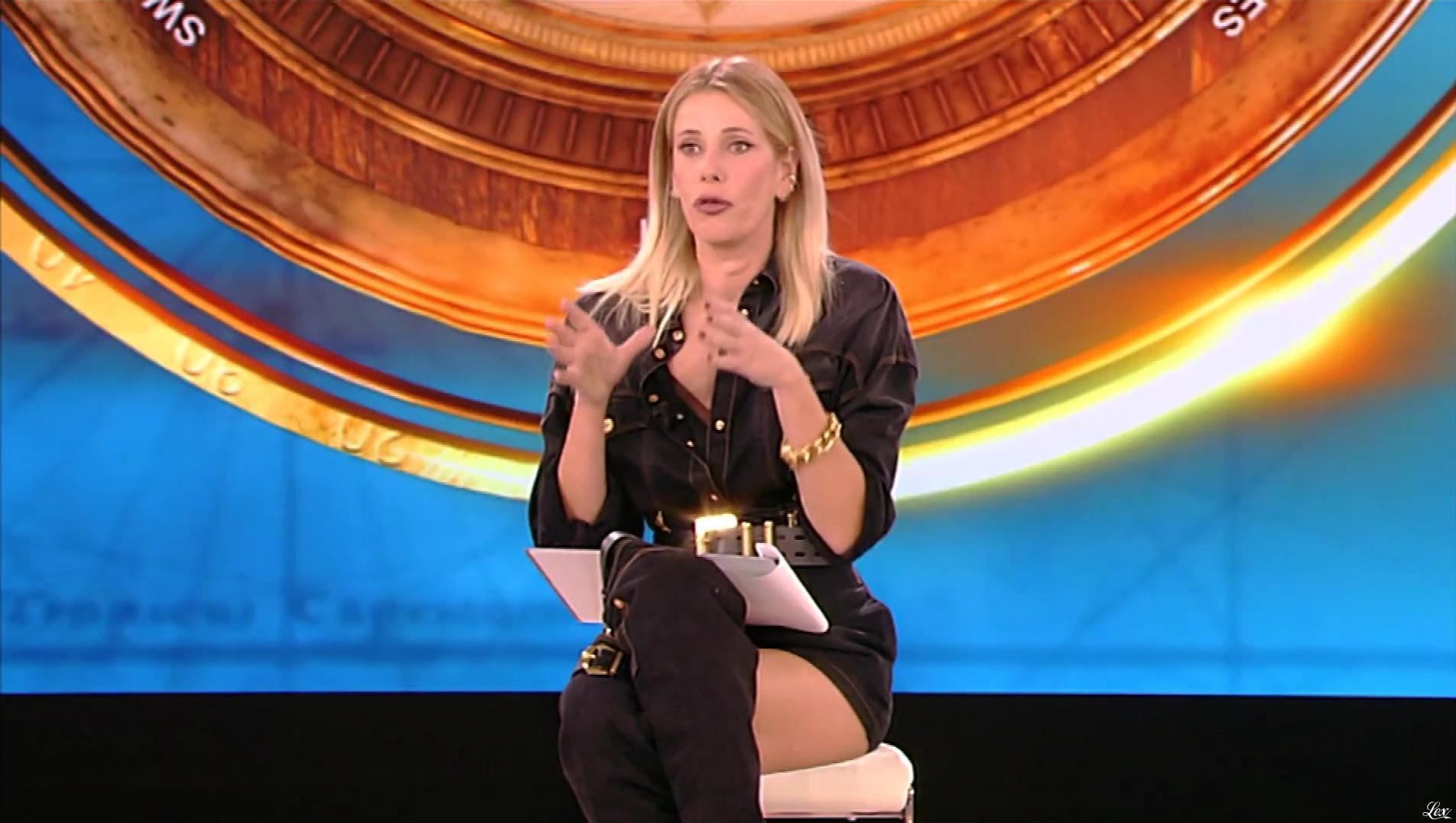 Alessia Marcuzzi dans l'Isola Dei Famosi. Diffusé à la télévision le 31/01/19.