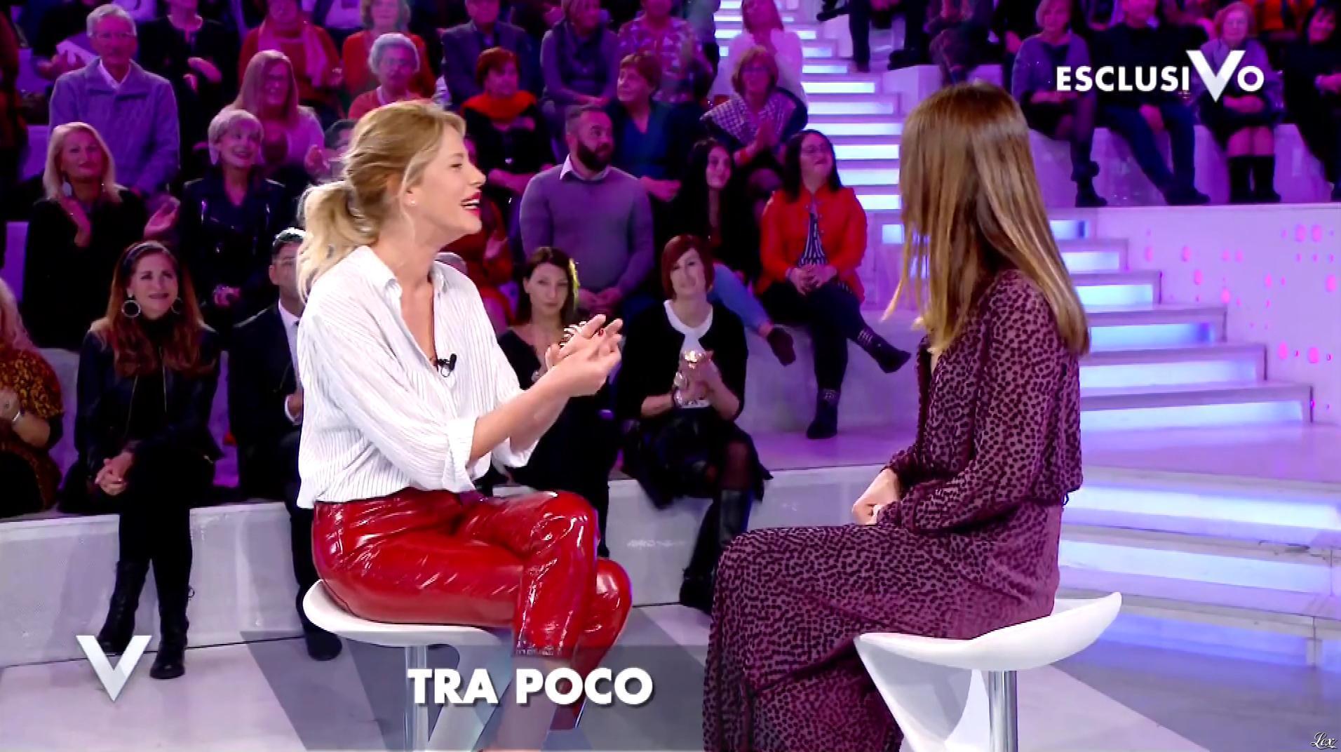 Alessia Marcuzzi dans Verissimo. Diffusé à la télévision le 19/01/19.