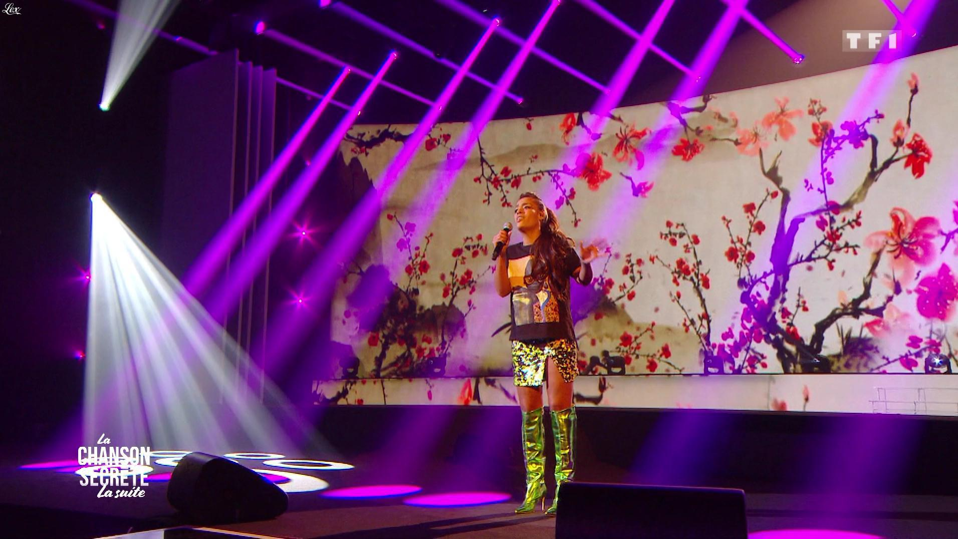 Amel Bent dans la Chanson Secrète. Diffusé à la télévision le 29/12/18.