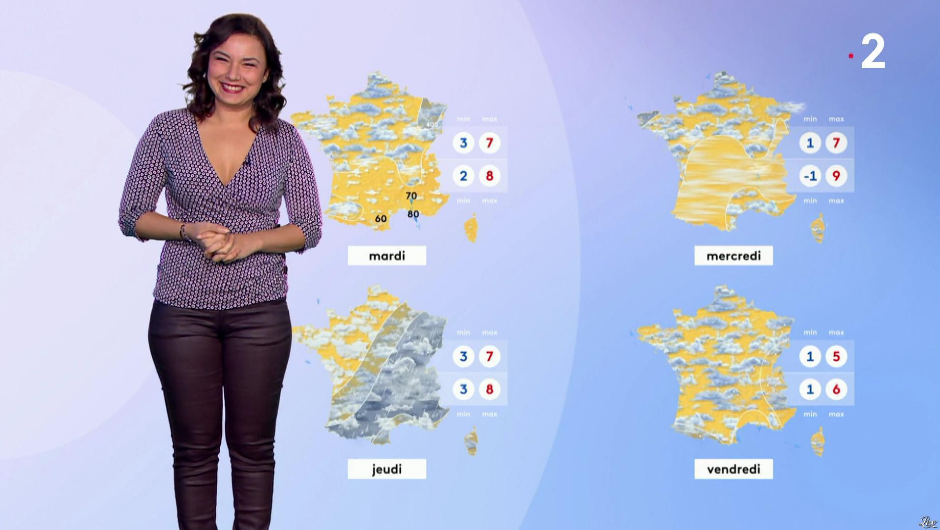 Anaïs Baydemir dans la Meteo. Diffusé à la télévision le 12/01/19.