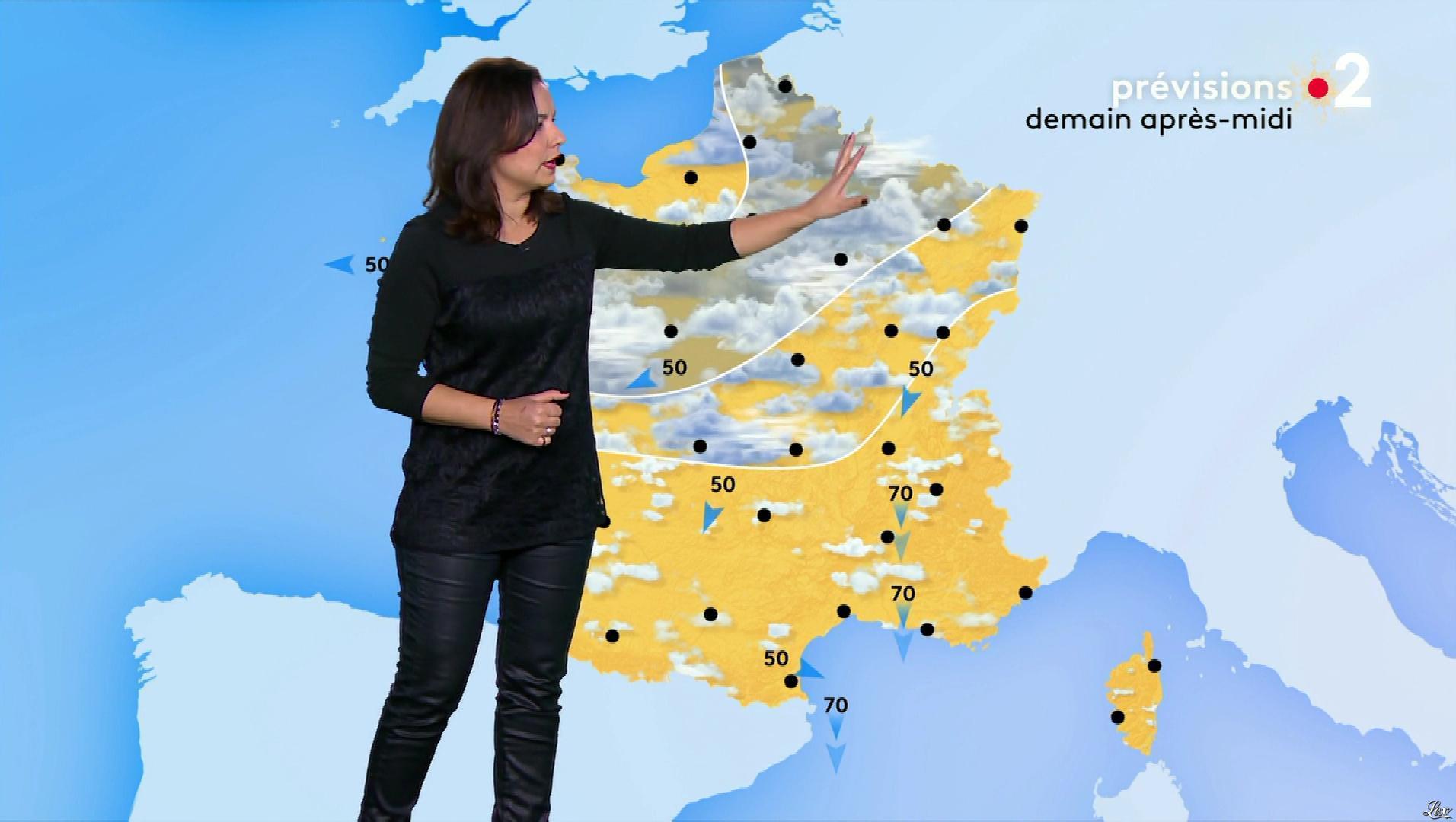 Anais Baydemir à la Météo. Diffusé à la télévision le 02/01/19.