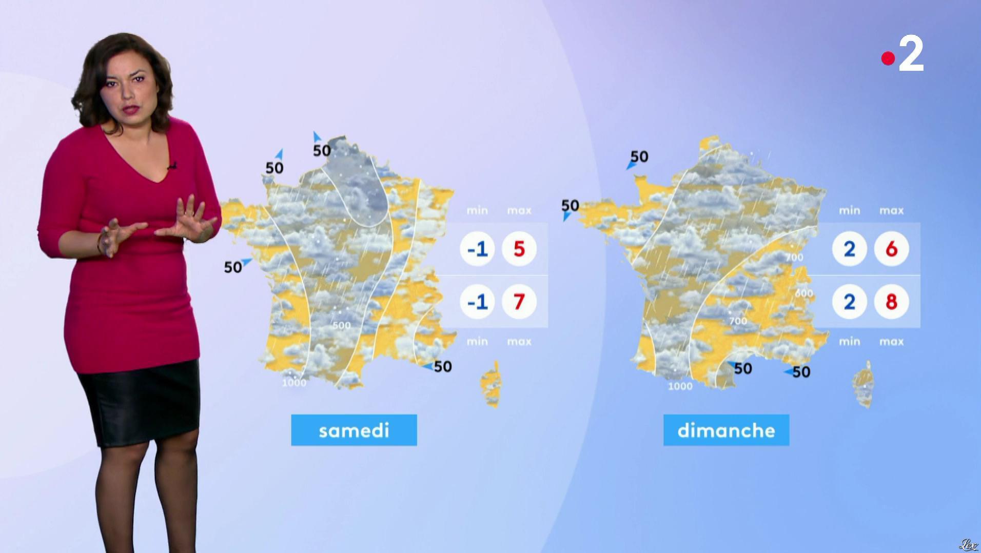 Anais Baydemir à la Météo de Midi. Diffusé à la télévision le 17/01/19.
