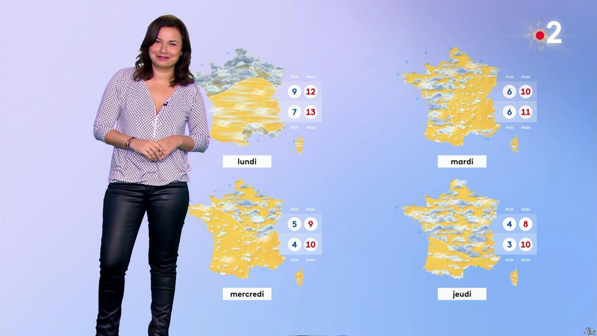 Anais Baydemir à la Météo de Midi. Diffusé à la télévision le 19/12/18.