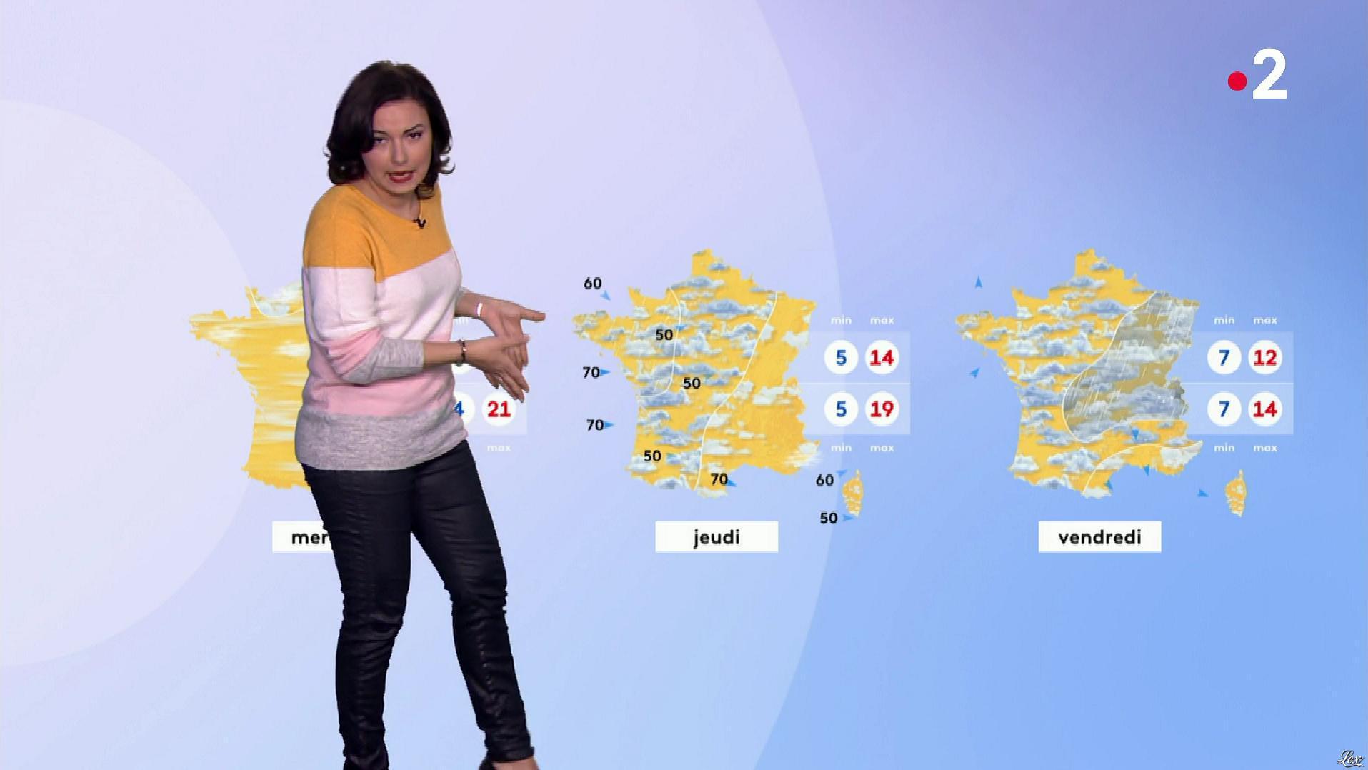 Anais Baydemir à la Météo de Midi. Diffusé à la télévision le 25/02/19.