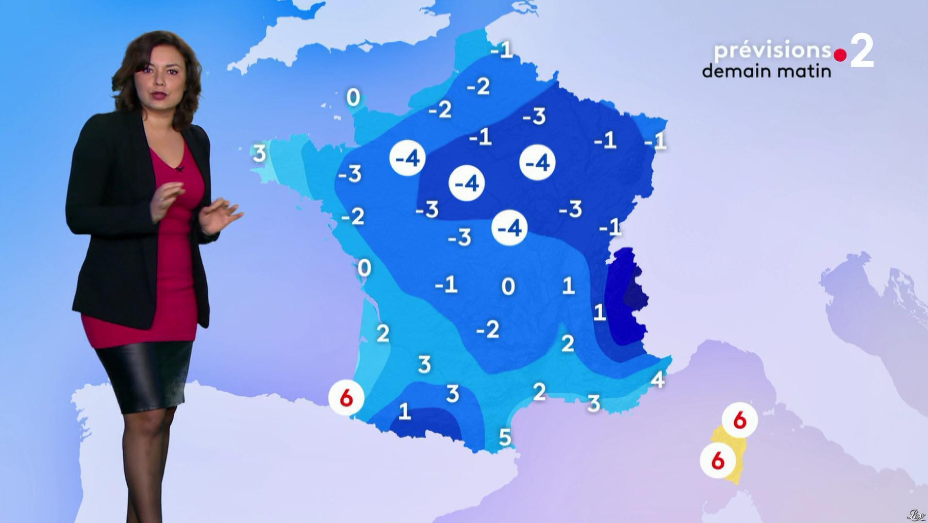 Anaïs Baydemir à la Météo du Soir. Diffusé à la télévision le 17/01/19.