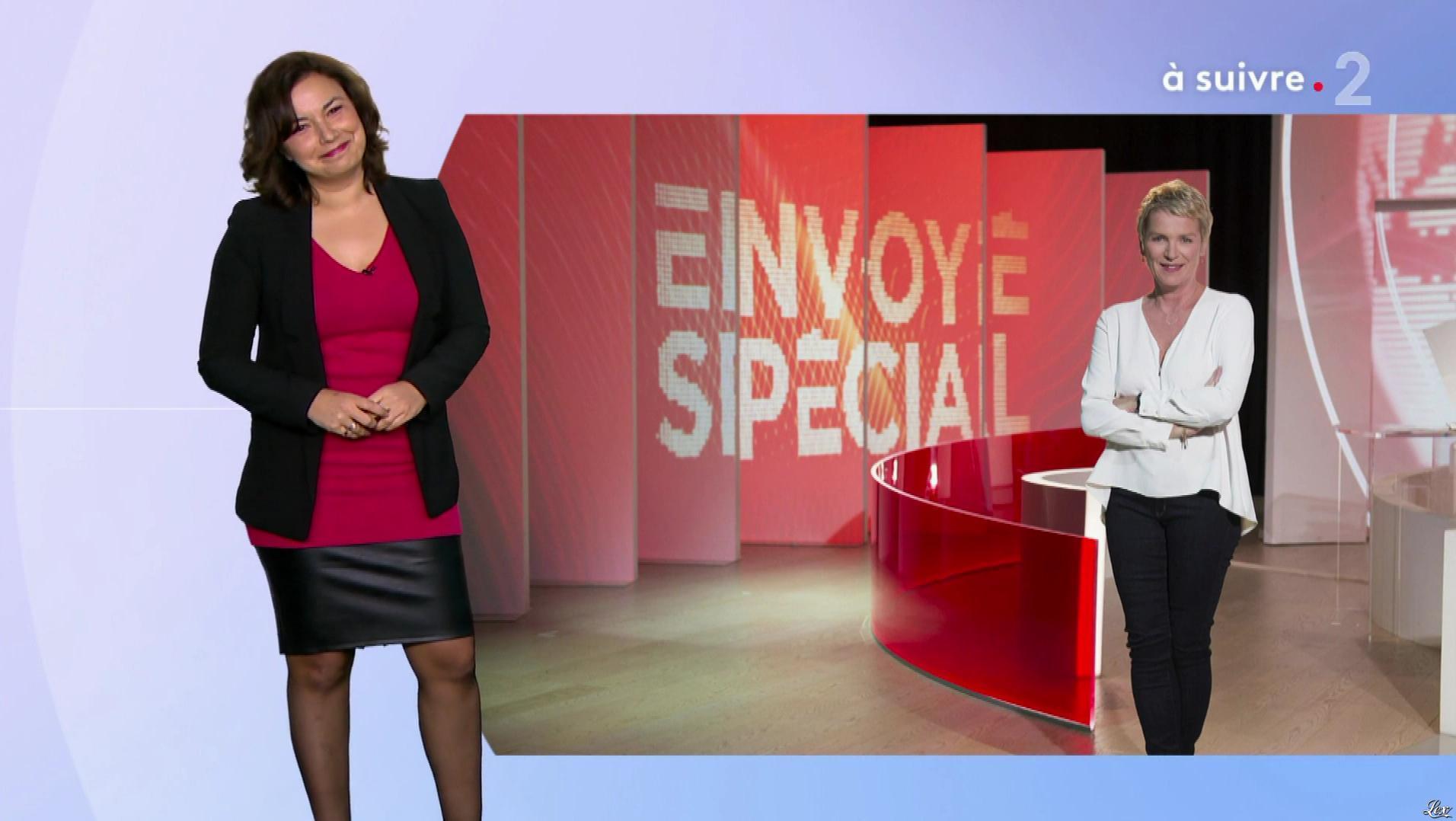 Anais Baydemir à la Météo du Soir. Diffusé à la télévision le 17/01/19.