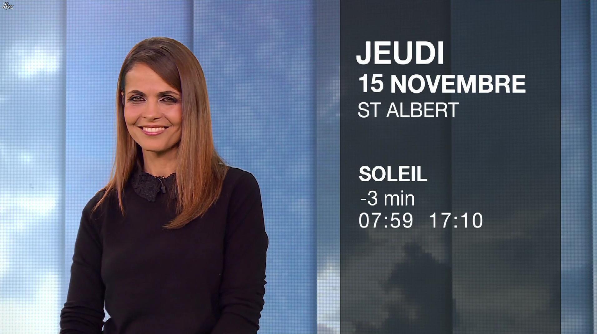 Cali Morales à la Météo du Soir. Diffusé à la télévision le 14/11/18.
