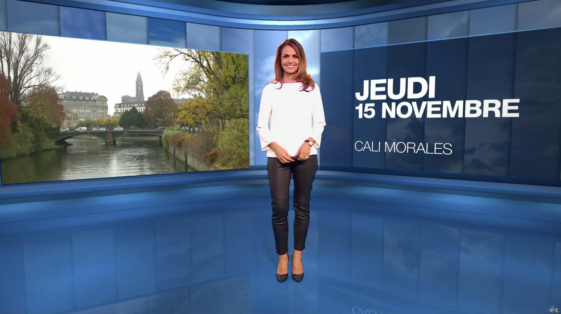 Cali Morales à la Météo du Soir. Diffusé à la télévision le 15/11/18.