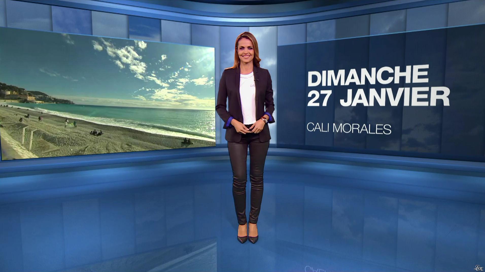 Cali Morales à la Météo du Soir. Diffusé à la télévision le 27/01/19.