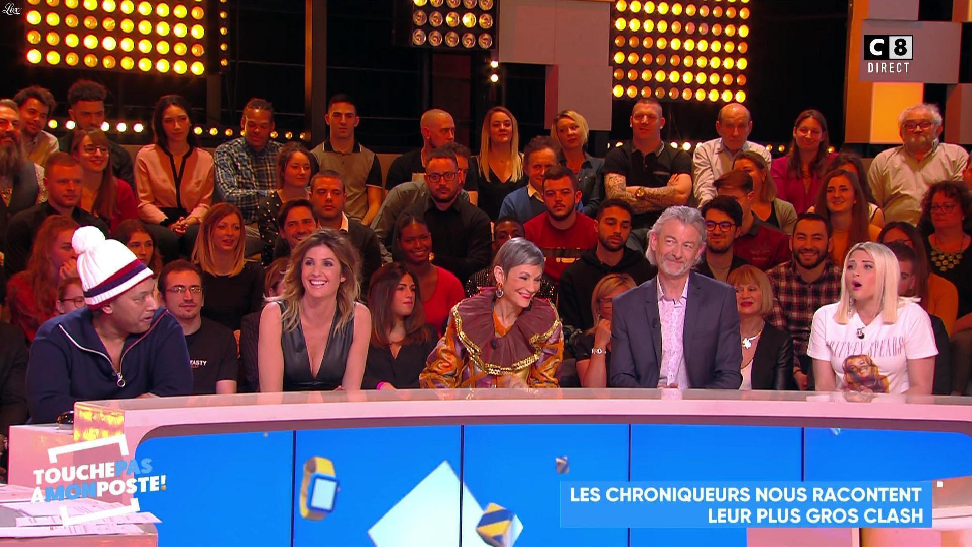 Caroline Ithurbide dans Touche pas à mon Poste. Diffusé à la télévision le 04/03/19.