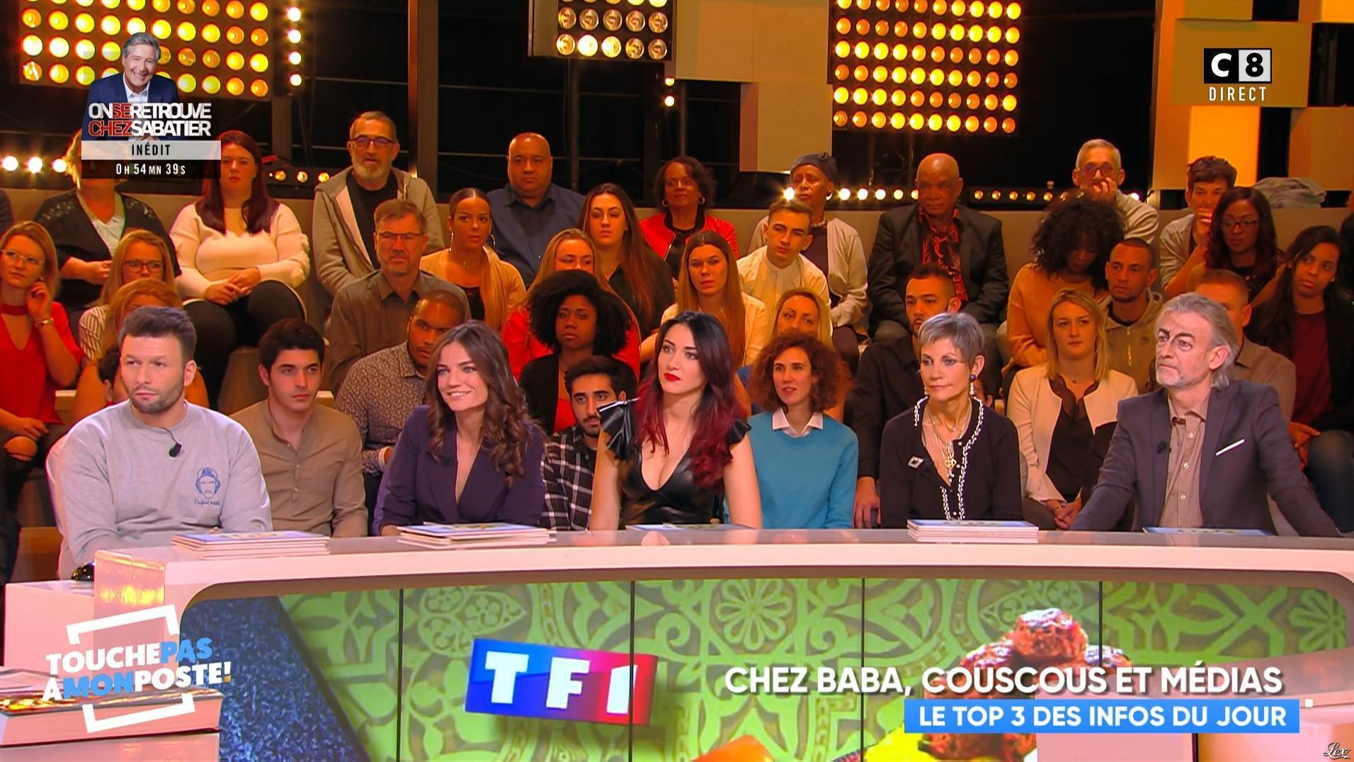 Delphine Wespiser dans Touche pas à mon Poste. Diffusé à la télévision le 16/01/19.