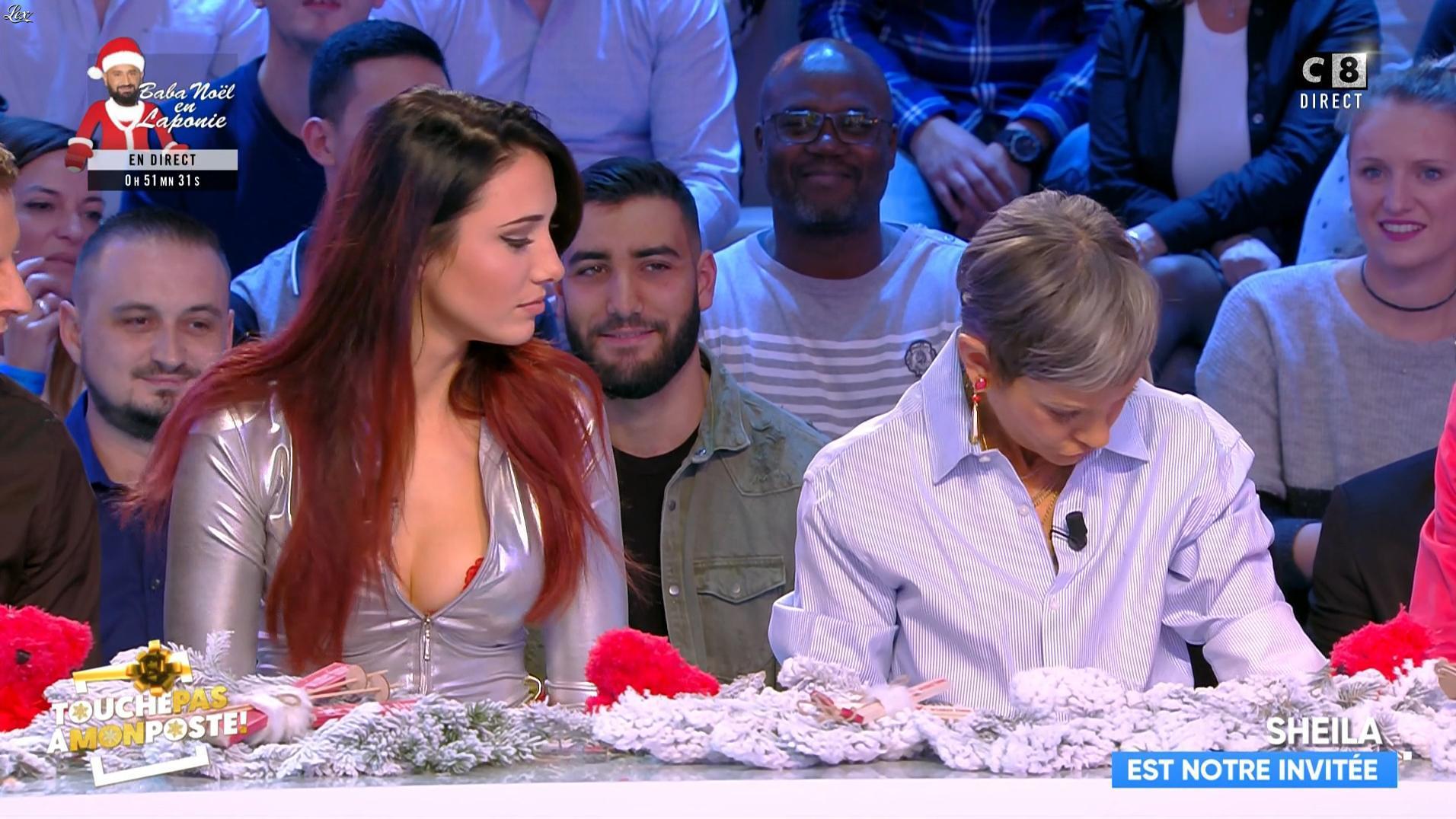 Delphine Wespiser dans Touche pas à mon Poste. Diffusé à la télévision le 19/12/18.