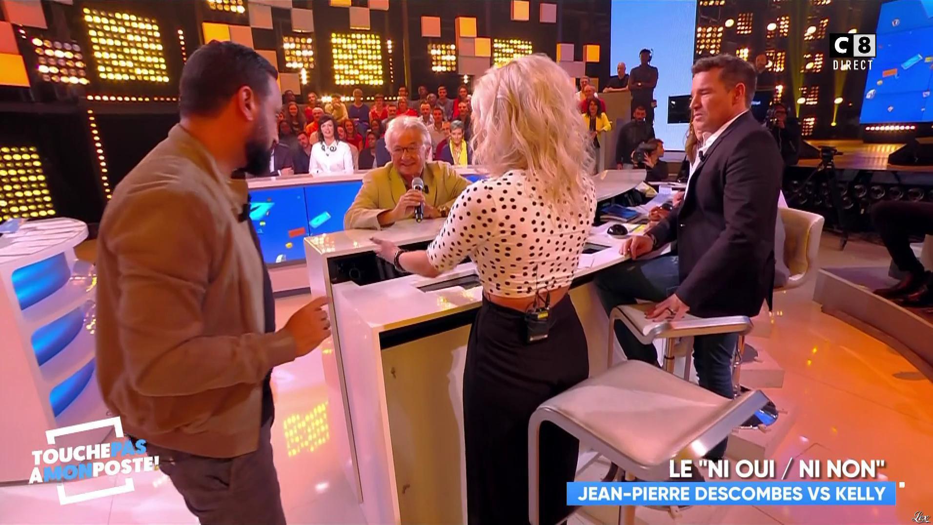 Kelly Vedovelli dans Touche pas à mon Poste. Diffusé à la télévision le 20/09/18.
