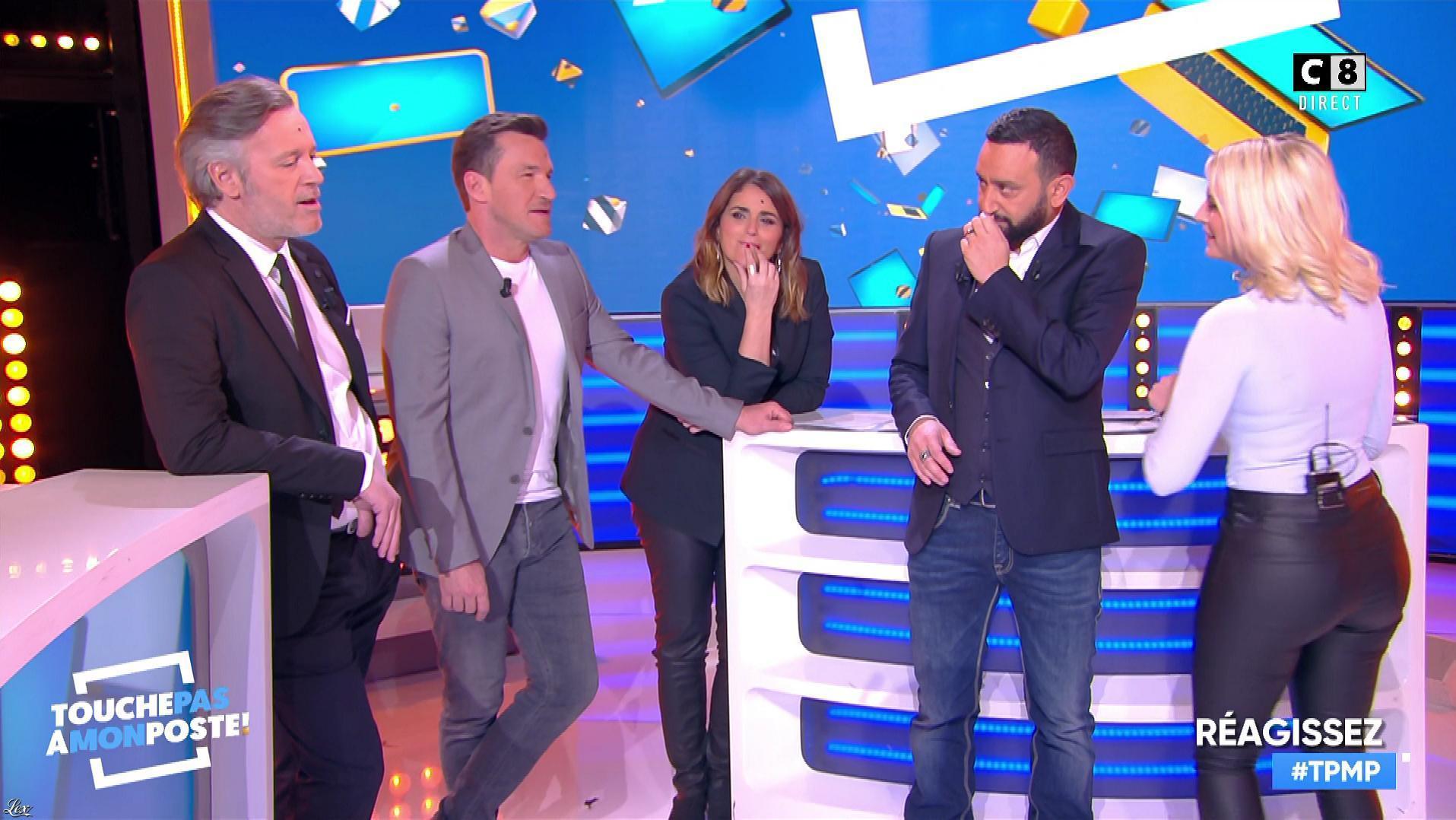 Kelly Vedovelli et Valérie Benaim dans Touche pas à mon Poste. Diffusé à la télévision le 18/02/19.