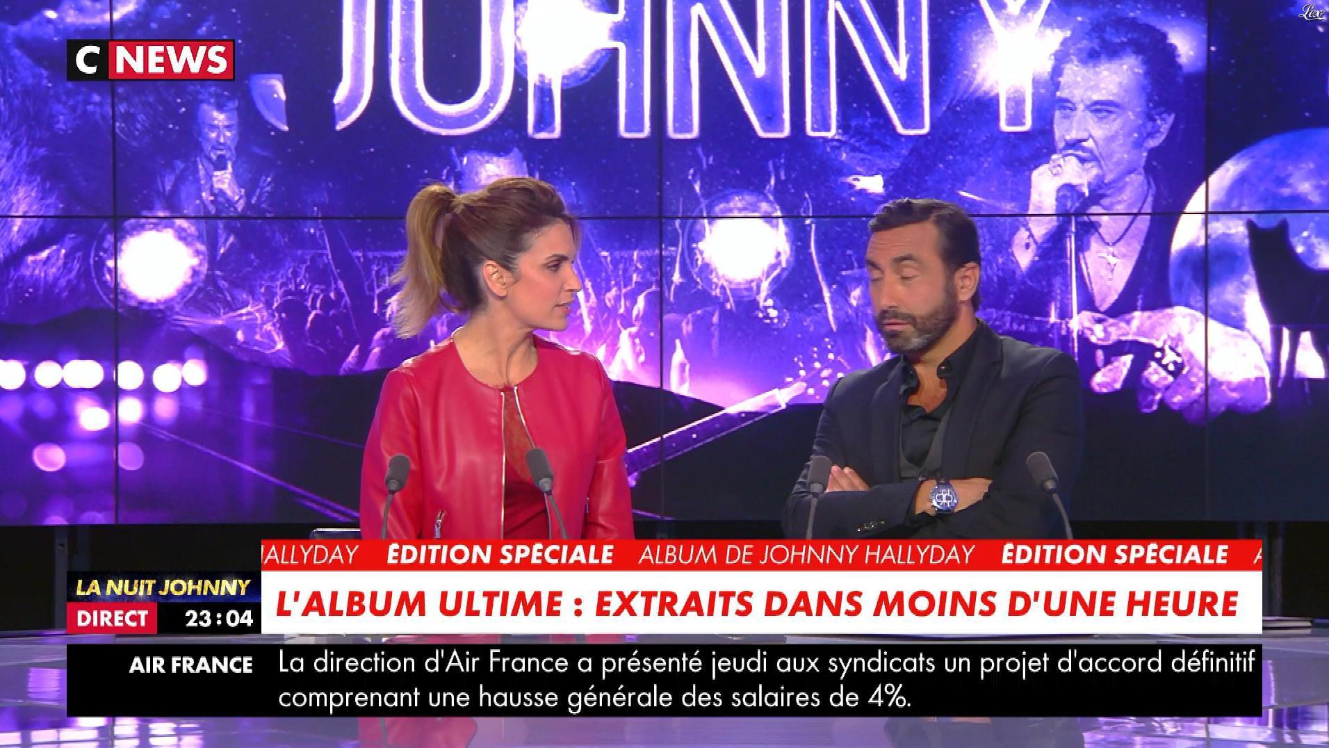 Sonia Mabrouk dans la Nuit Johnny. Diffusé à la télévision le 18/10/18.