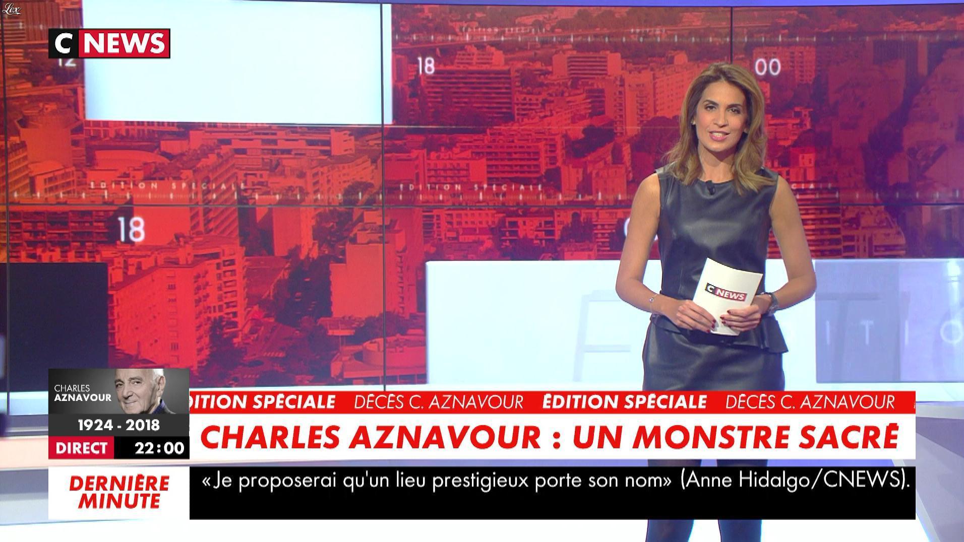 Sonia Mabrouk dans les Voix de l'Info. Diffusé à la télévision le 01/10/18.