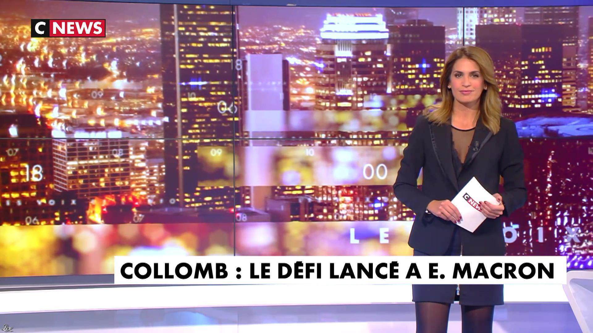 Sonia Mabrouk dans les Voix de l'Info. Diffusé à la télévision le 02/10/18.