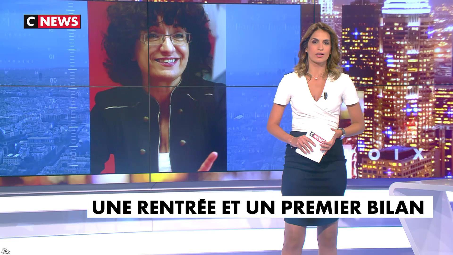 Sonia Mabrouk dans les Voix de l'Info. Diffusé à la télévision le 03/09/18.