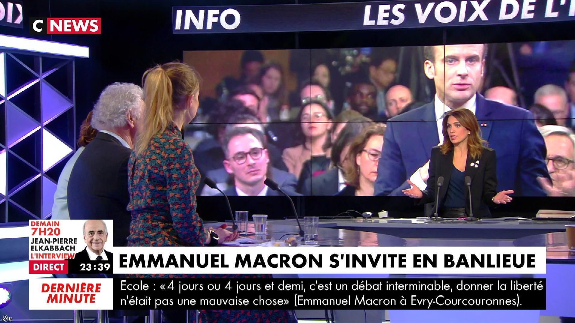 Sonia Mabrouk dans les Voix de l'Info. Diffusé à la télévision le 04/02/19.
