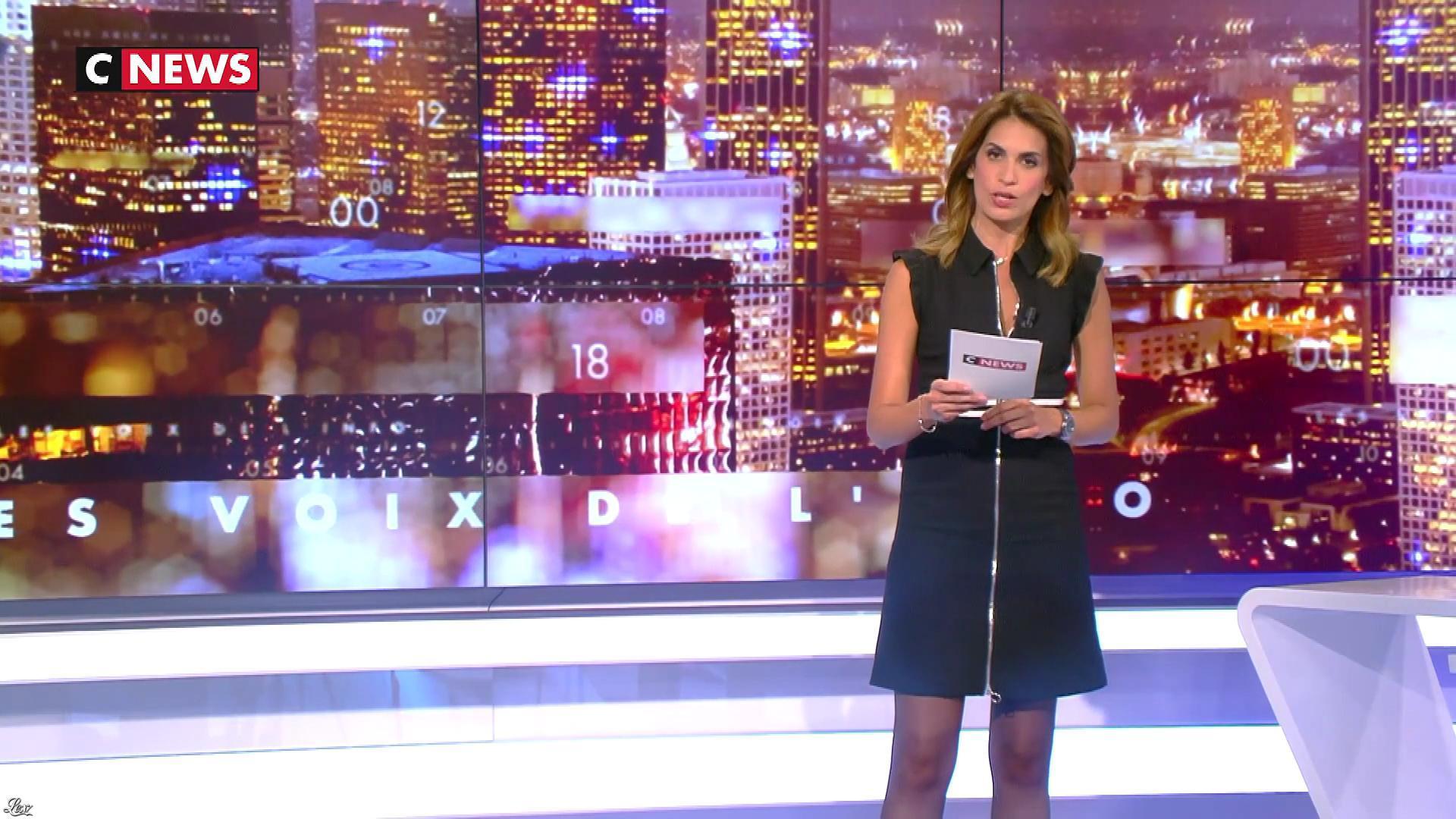 Sonia Mabrouk dans les Voix de l'Info. Diffusé à la télévision le 04/09/18.
