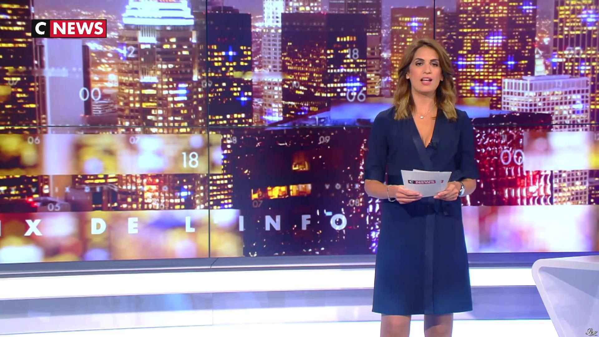 Sonia Mabrouk dans les Voix de l'Info. Diffusé à la télévision le 06/09/18.