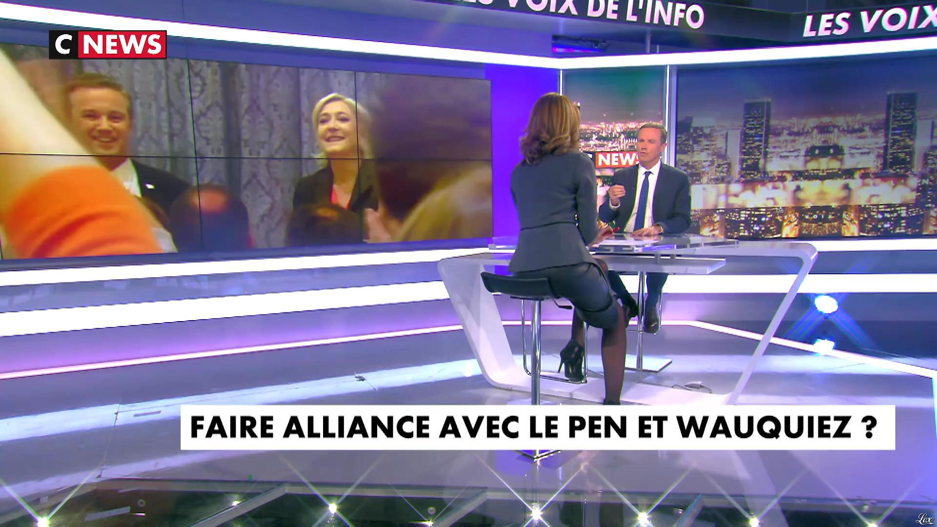 Sonia Mabrouk dans les Voix de l'Info. Diffusé à la télévision le 13/03/18.