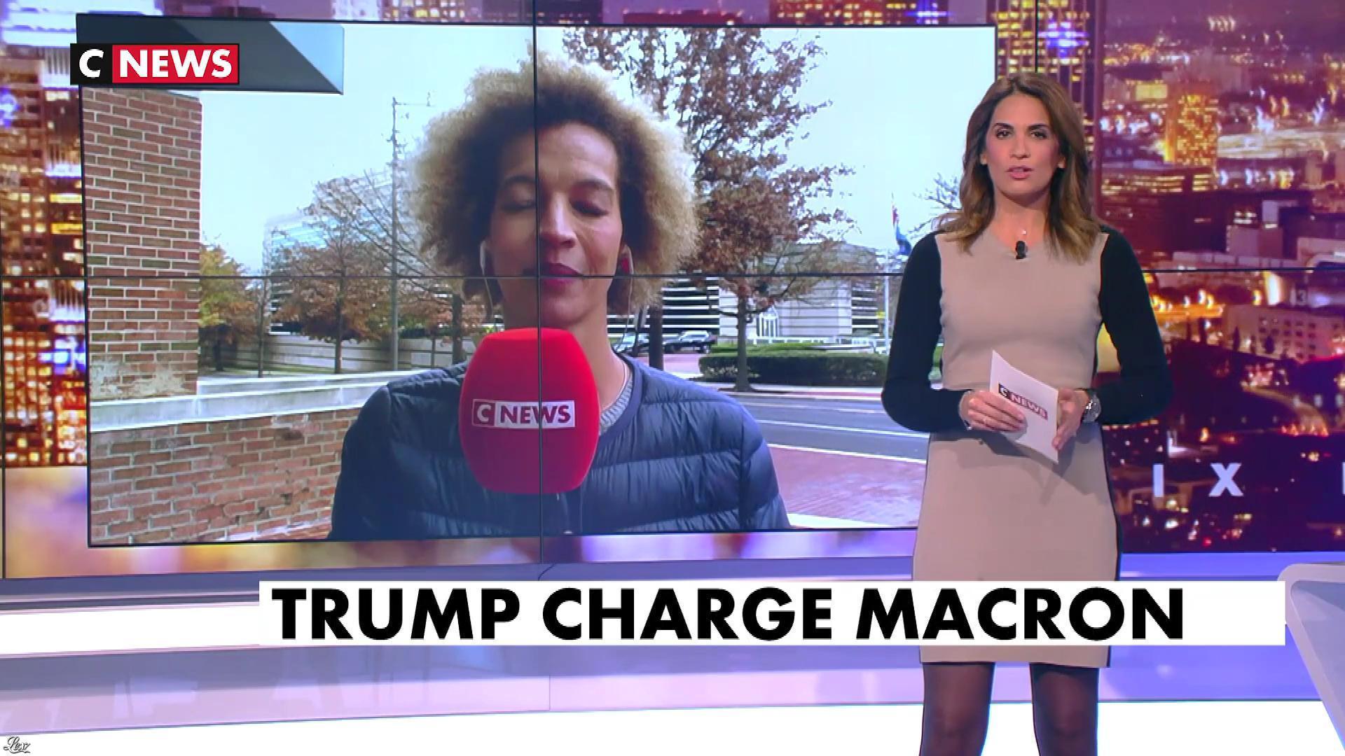 Sonia Mabrouk dans les Voix de l'Info. Diffusé à la télévision le 13/11/18.