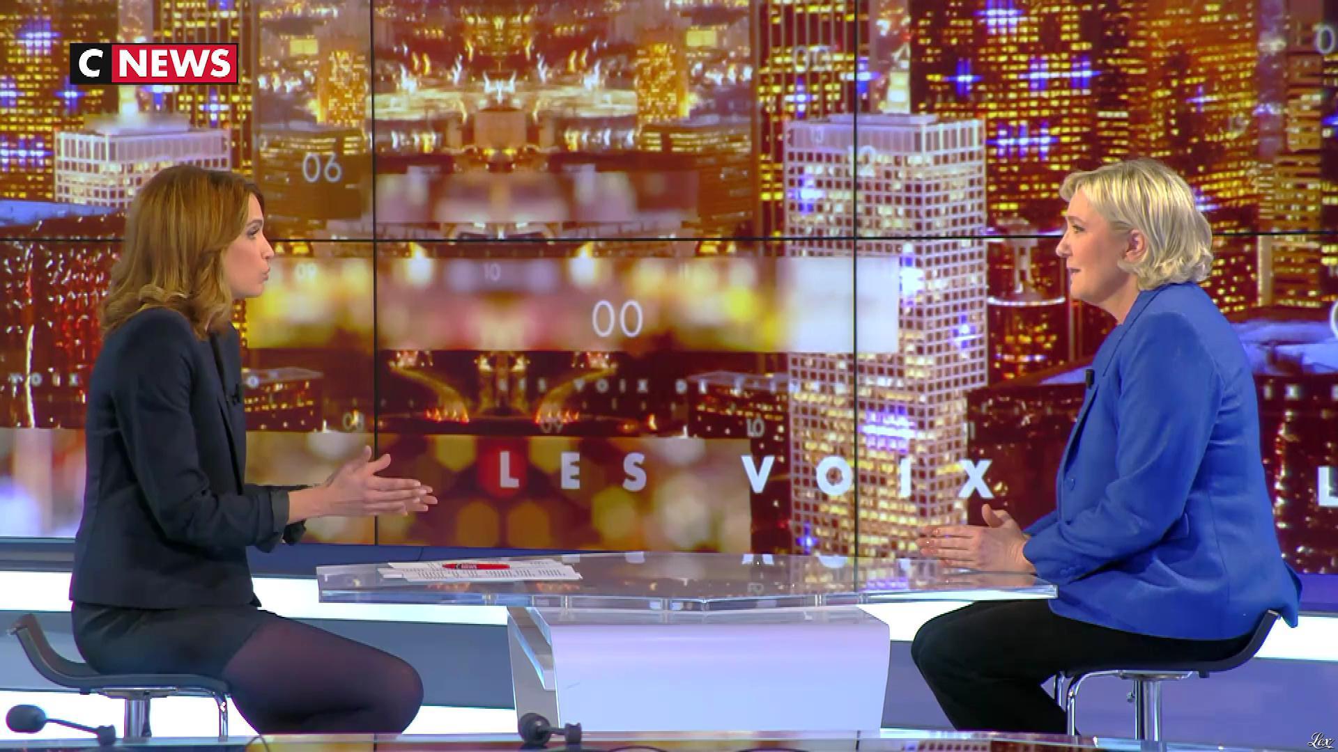 Sonia Mabrouk dans les Voix de l'Info. Diffusé à la télévision le 15/03/18.