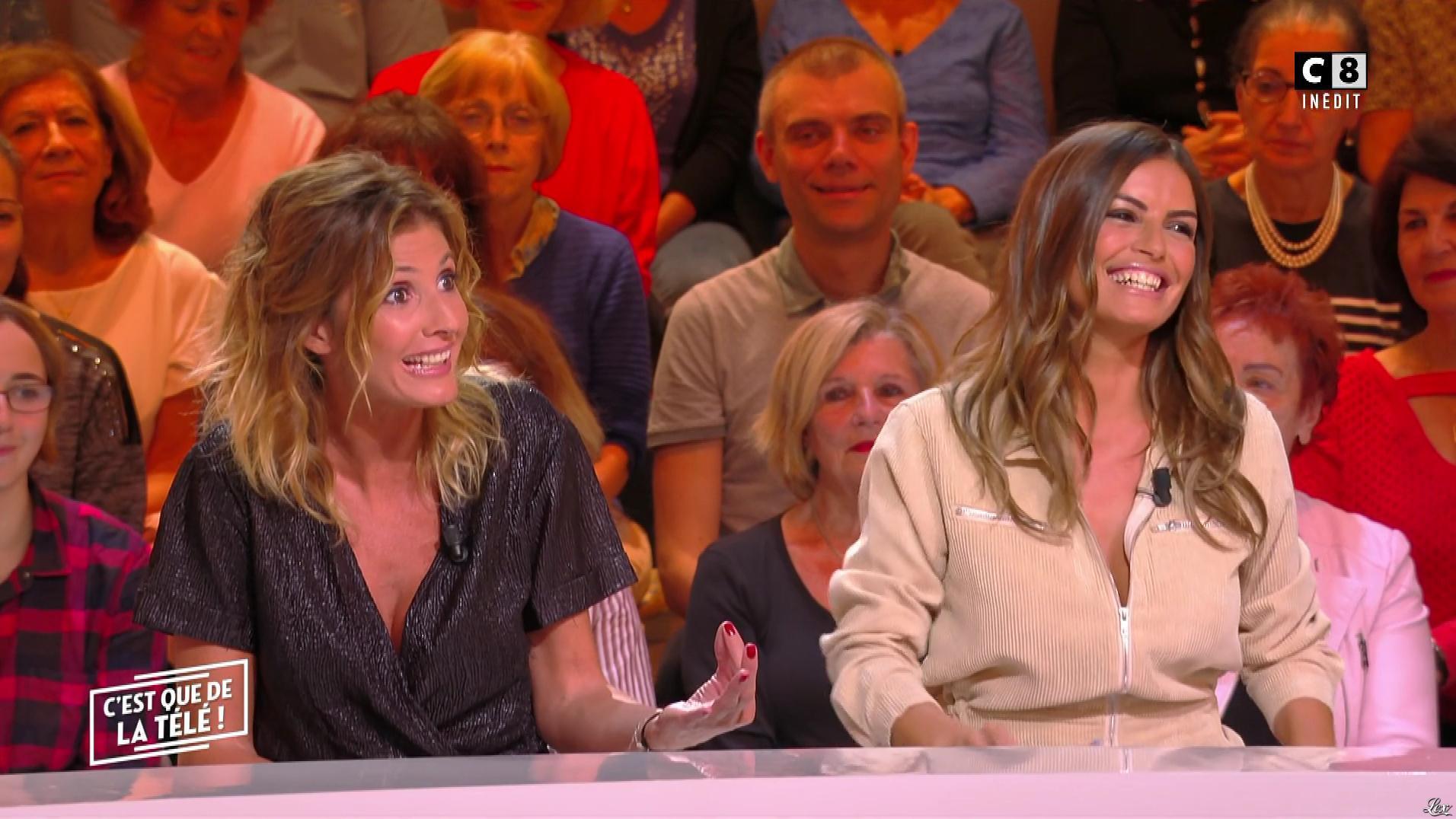 Caroline Ithurbide et Amélie Bitoun dans c'est Que de la Télé. Diffusé à la télévision le 25/09/19.