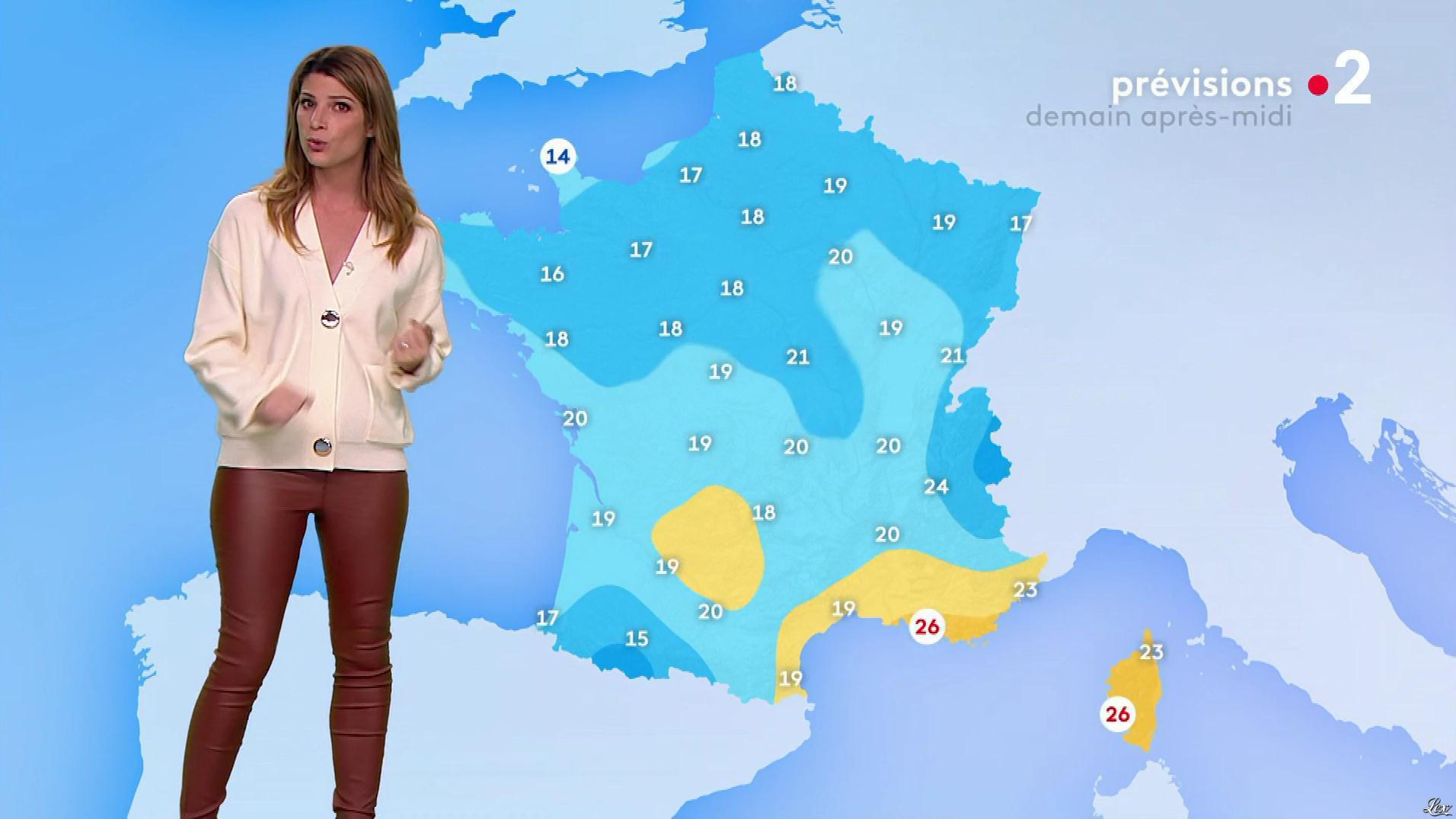 Chloé Nabédian à la Météo de Midi. Diffusé à la télévision le 22/10/19.