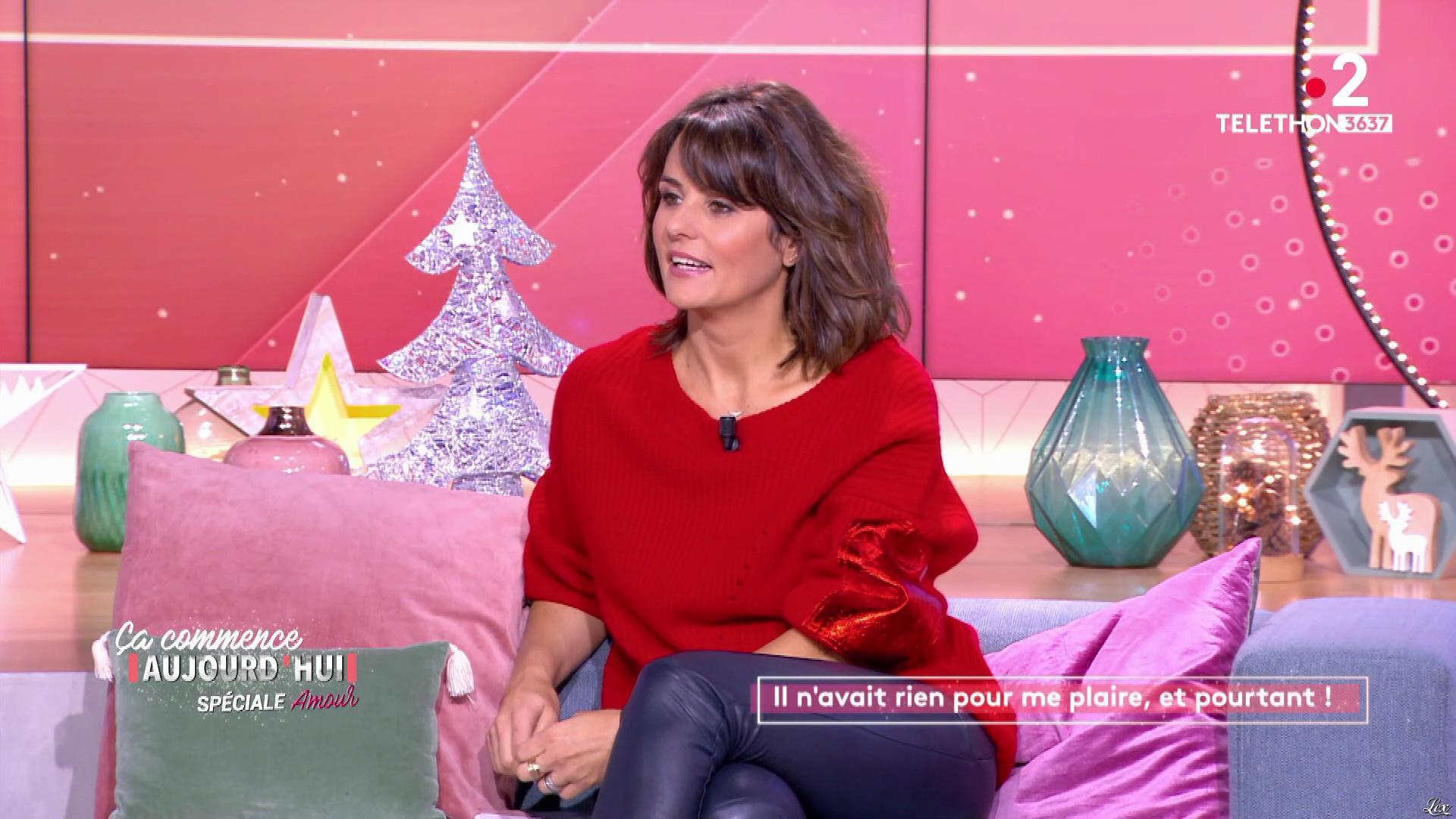 Faustine Bollaert dans Ça Commence Aujourd'hui. Diffusé à la télévision le 06/12/19.