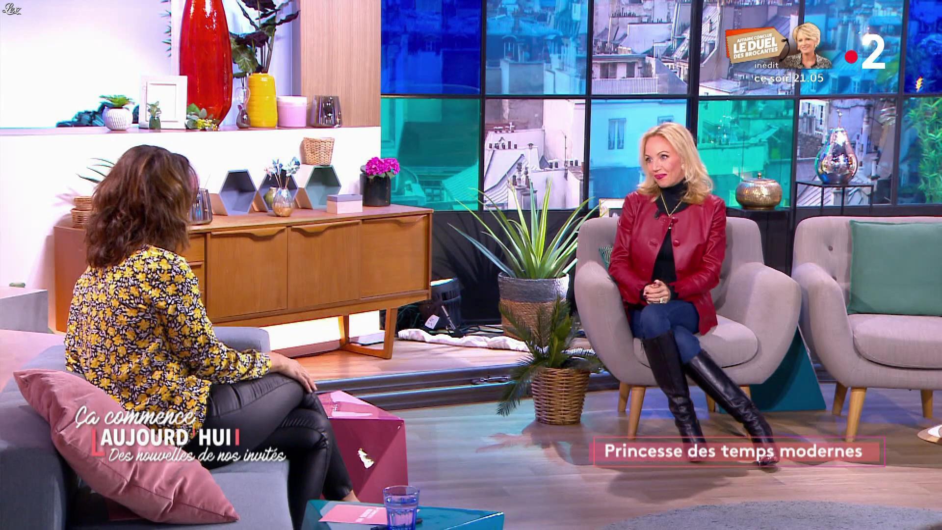 Faustine Bollaert et Camilla de Bourbon dans Ça Commence Aujourd'hui, Des Nouvelles.... Diffusé à la télévision le 14/01/20.