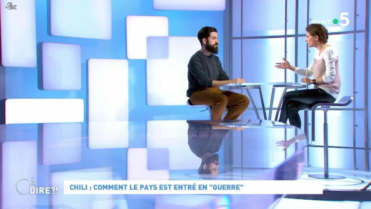 Mélanie Taravant dans C à Dire. Diffusé à la télévision le 21/10/19.