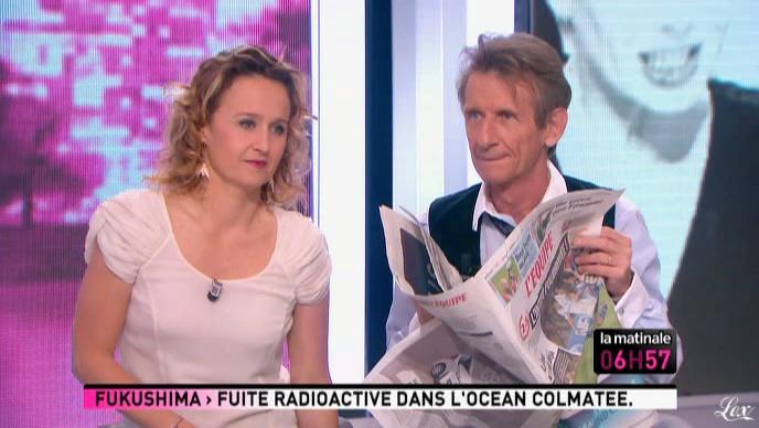 Caroline Roux dans la Matinale. Diffusé à la télévision le 06/04/11.