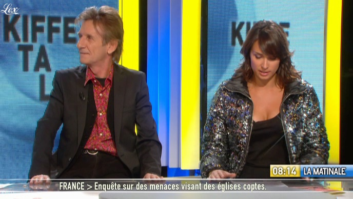 Julia Vignali dans la Matinale. Diffusé à la télévision le 04/01/11.