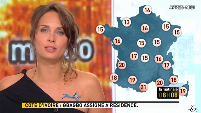 Julia Vignali dans la Matinale. Diffusé à la télévision le 13/04/11.