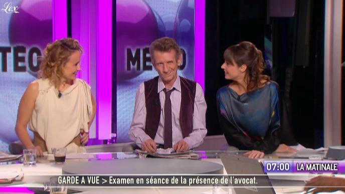 Julia Vignali dans la Matinale. Diffusé à la télévision le 20/01/11.