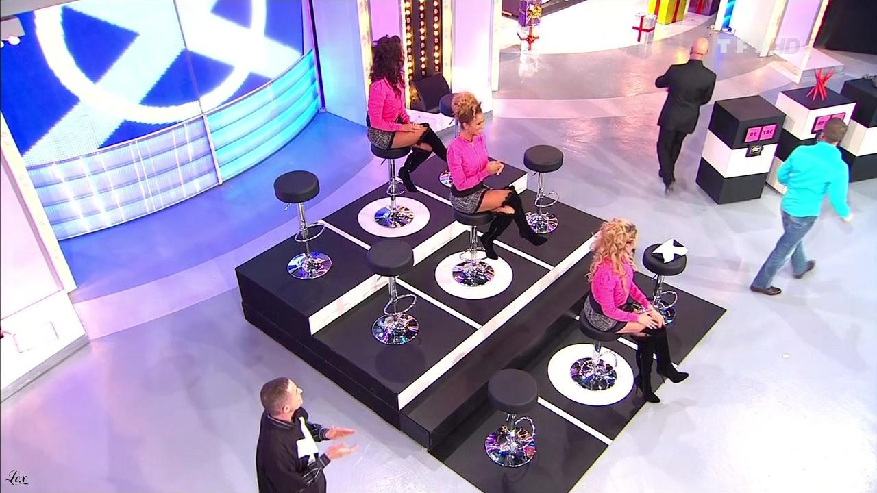 Les Gafettes, Doris Rouesne, Fanny Veyrac et Nadia Aydanne dans le Juste Prix. Diffusé à la télévision le 28/02/11.
