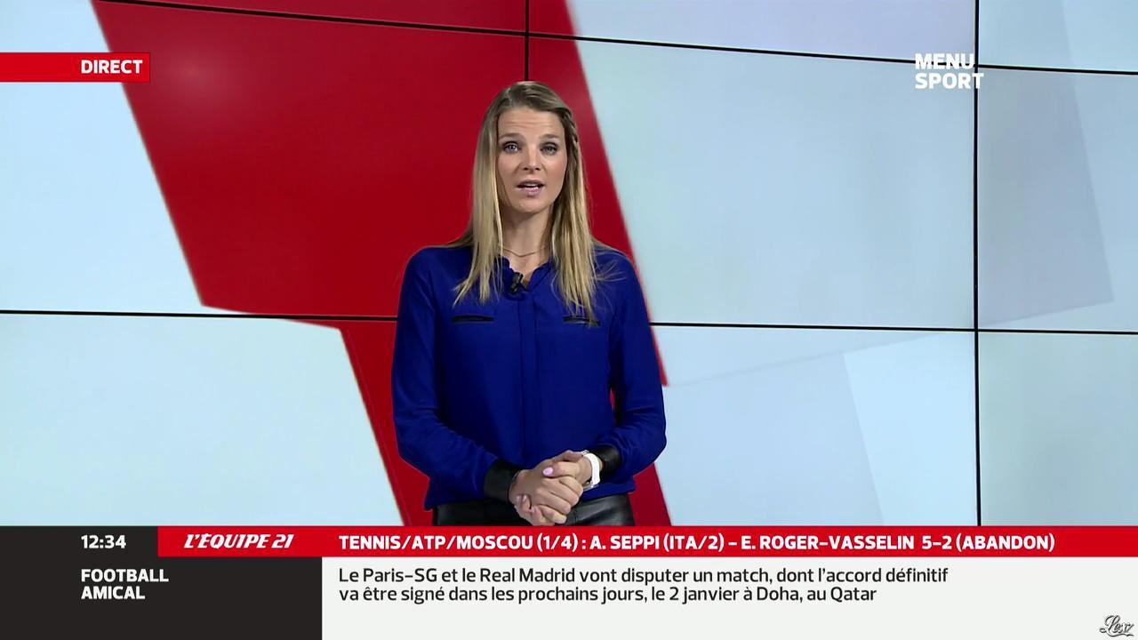 France Pierron dans Menu Sport. Diffusé à la télévision le 18/10/13.
