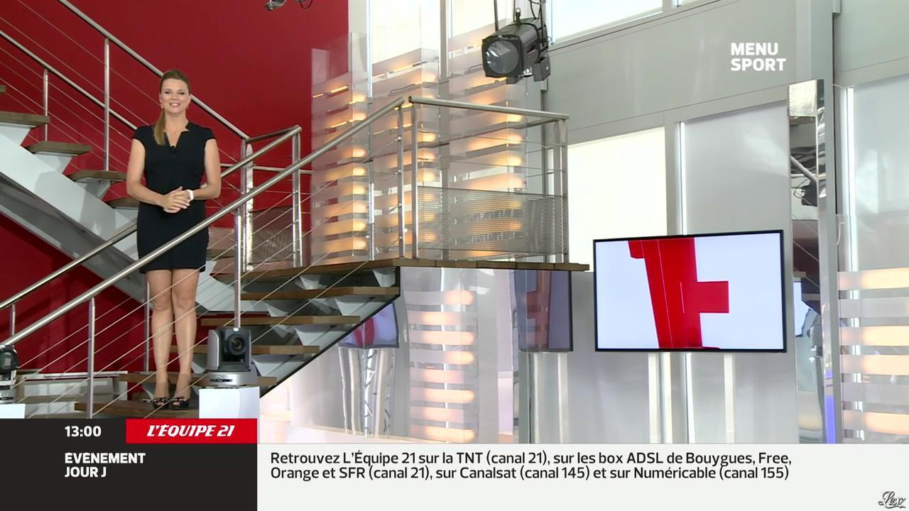 France Pierron dans Menu Sport. Diffusé à la télévision le 24/09/13.
