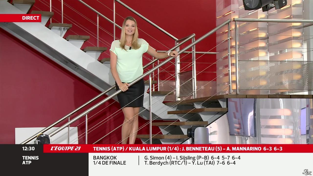France Pierron dans Menu Sport. Diffusé à la télévision le 27/09/13.