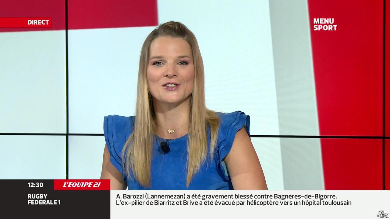 France Pierron dans Menu Sport. Diffusé à la télévision le 30/09/13.