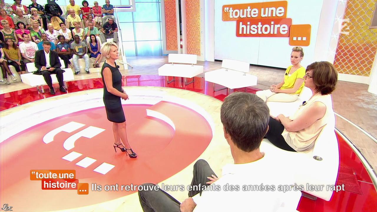Sophie Davant dans Toute une Histoire. Diffusé à la télévision le 17/10/13.
