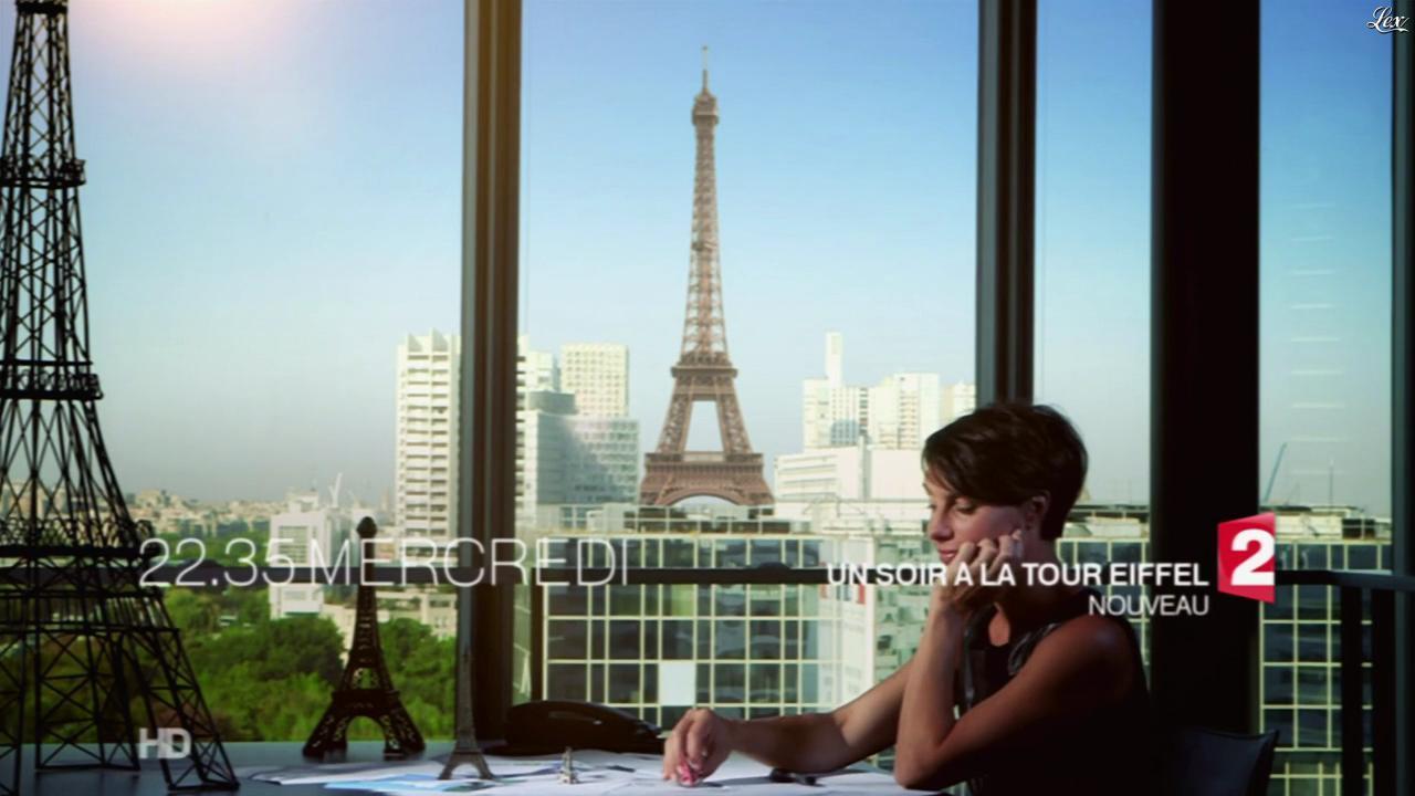 Alessandra Sublet dans une Bande-Annonce d'un Soir à la Tour Eiffel. Diffusé à la télévision le 27/09/14.