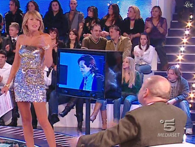 Alessia Marcuzzi dans Grande Fratello. Diffusé à la télévision le 12/01/09.