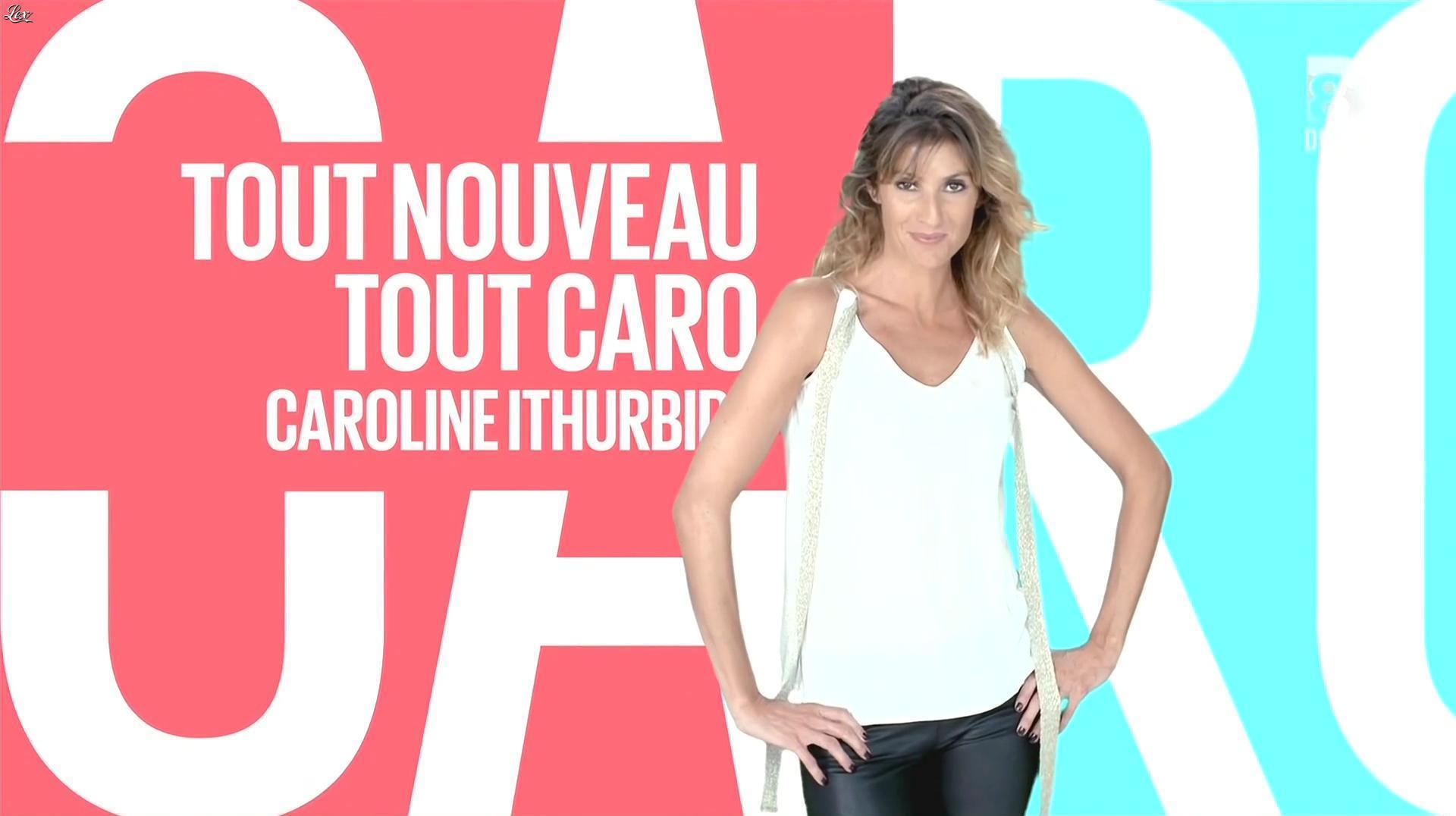 Caroline Ithurbide dans le Grand 8. Diffusé à la télévision le 30/09/14.